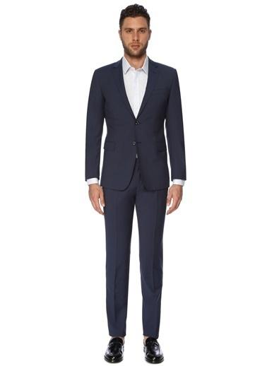 George Hogg George Hogg 7003488 Ekose Lacivert Takım Elbise Erkek Takım Elbise Lacivert
